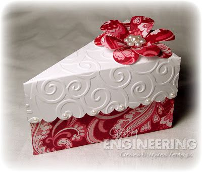 Crafty Engineering A Slice Of Published Cake Gifts Paper Crafts Cake Slice Boxes
