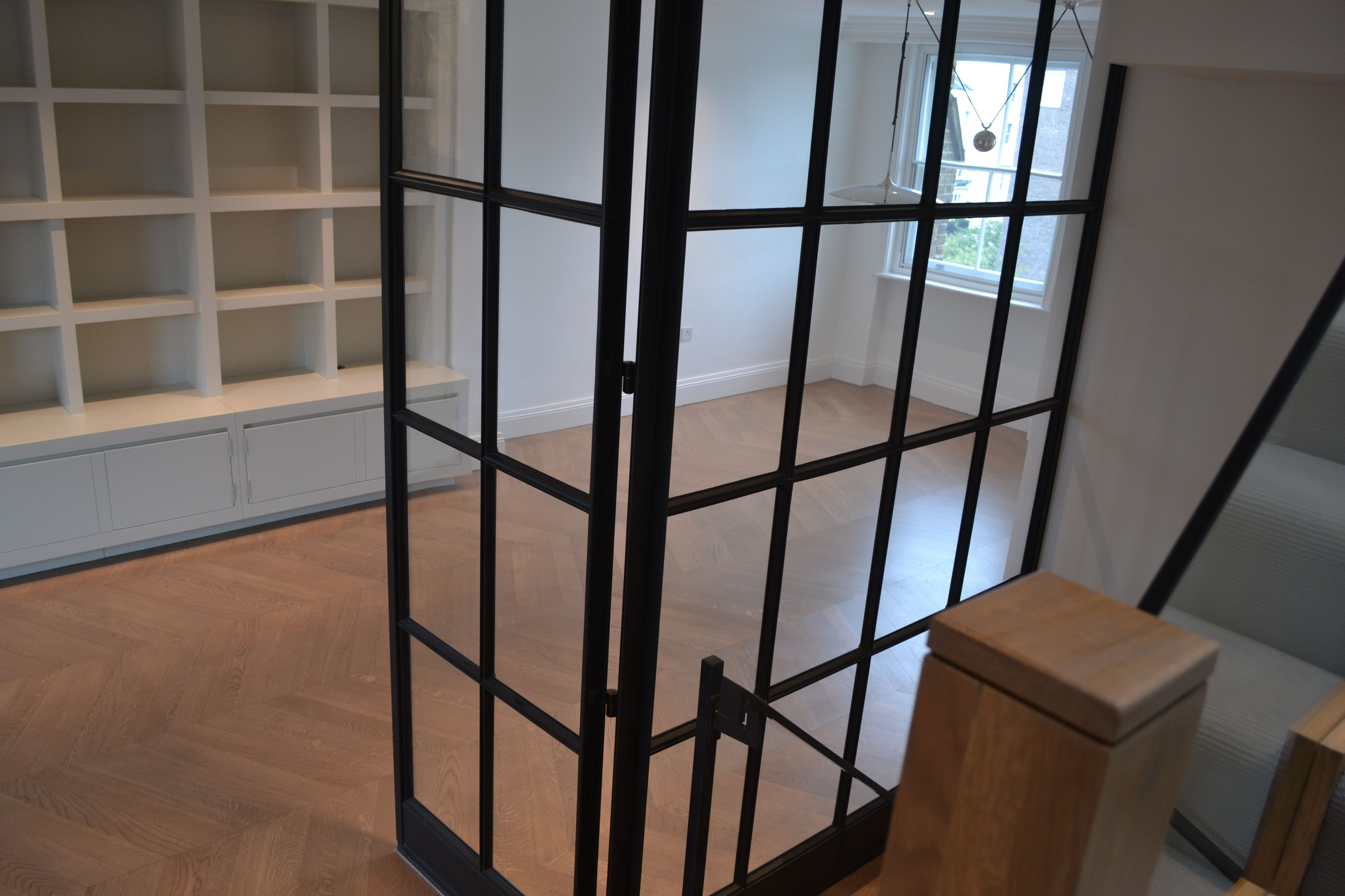Beautiful View From Staircase Through The Crittall Door Screen, By