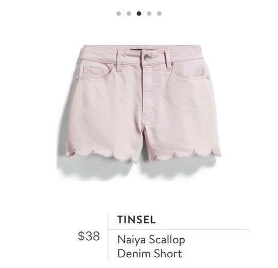 c8e1826f5590a Stitch Fix: Tinsel Naiya Scallop Denim Short $38 | Cute Stitch Fix ...