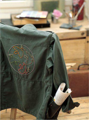 Veste tête de mort | Veste, Mode militaire, Broderie sur
