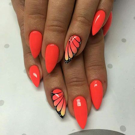 simple and easy butterfly nail art 2018  butterfly nail