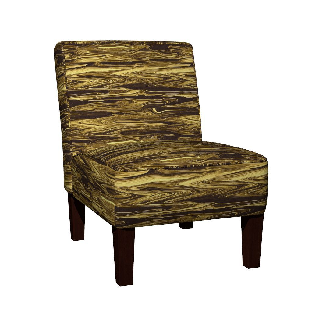 Maran Slipper Chair featuring Liquid  Gold by maryyx | Roostery Home Decor