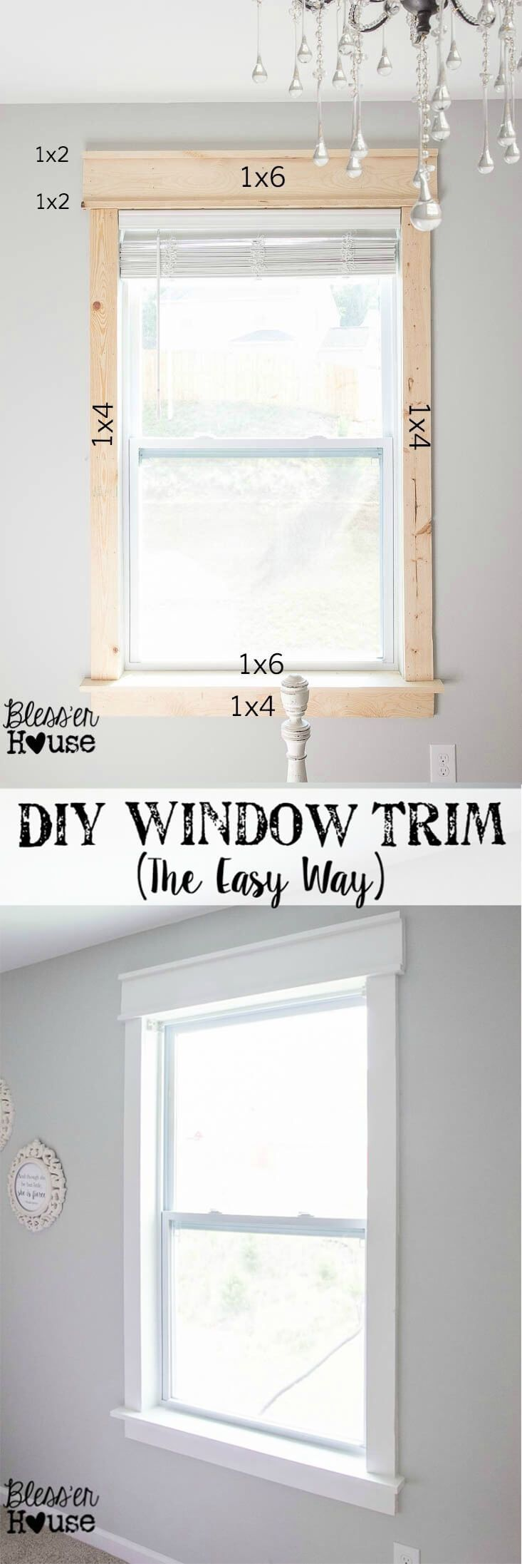 Diy interior window trim - 27 Creative Molding Ideas To Bring Instant Character To Your Home