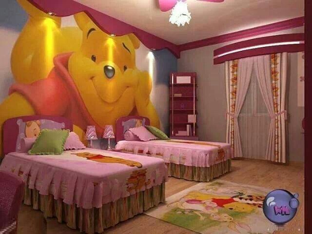 girl s winnie the pooh bedroom great idea