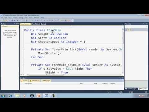 Visual Basic Express 2010 Tutorial 34 Programming The Shooter Ezinvaders Part 3 Game Tutorial Computer Programming Visual
