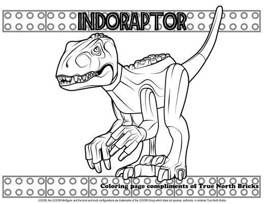 Coloring Page Indoraptor True North Bricks Coloring Pages Lego Coloring Pages Jurassic World