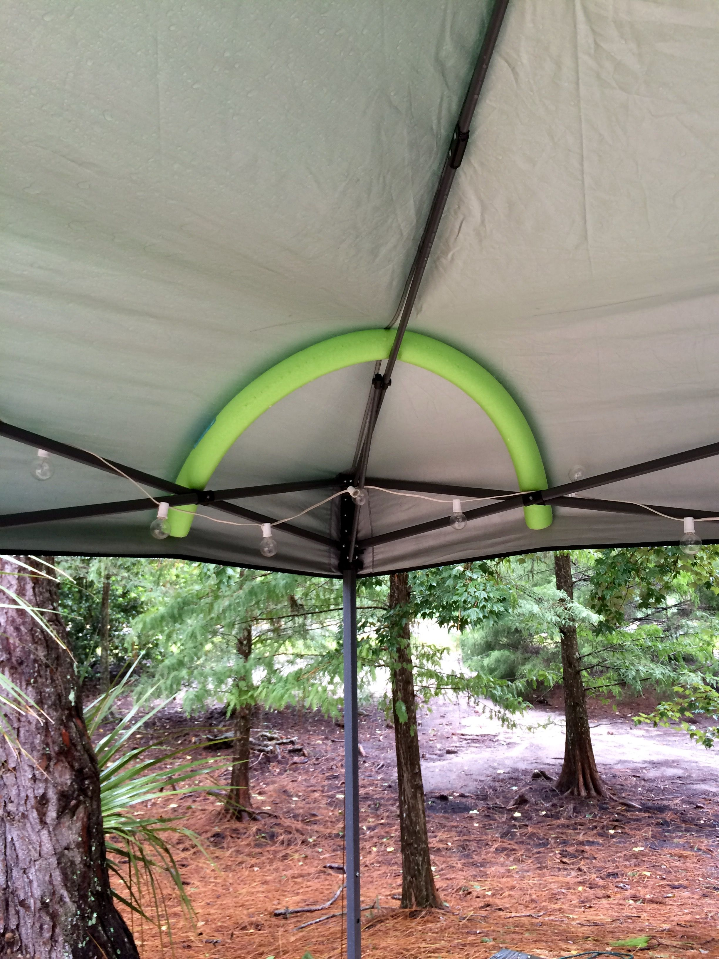 Works great for easy up tents whenu2026 & The best pool noodle idea ever!!! Works great for easy up tents when ...