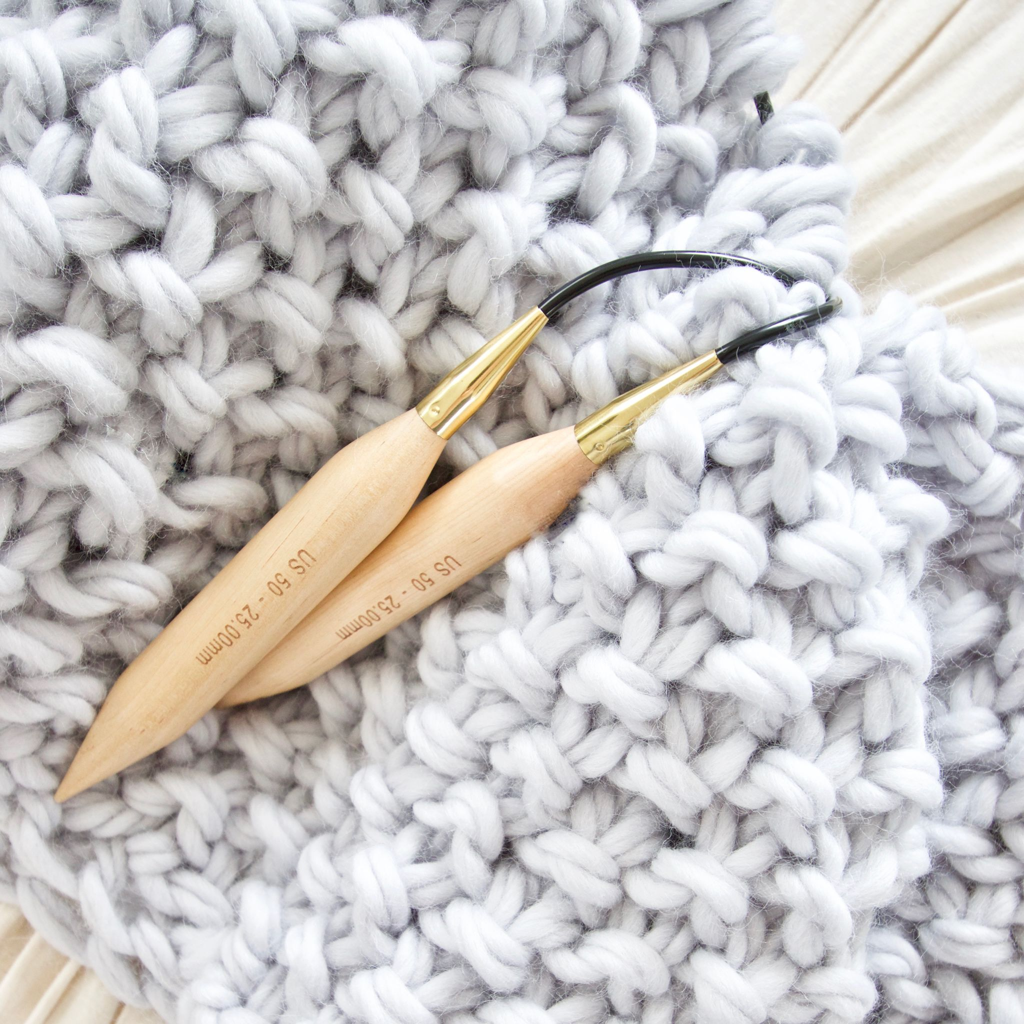 Birch circular knitting needles | Chunky wool, Blanket and Free pattern