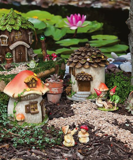 Fairy House Set Zulily Diy Feengarten Mini Garten Feengarten