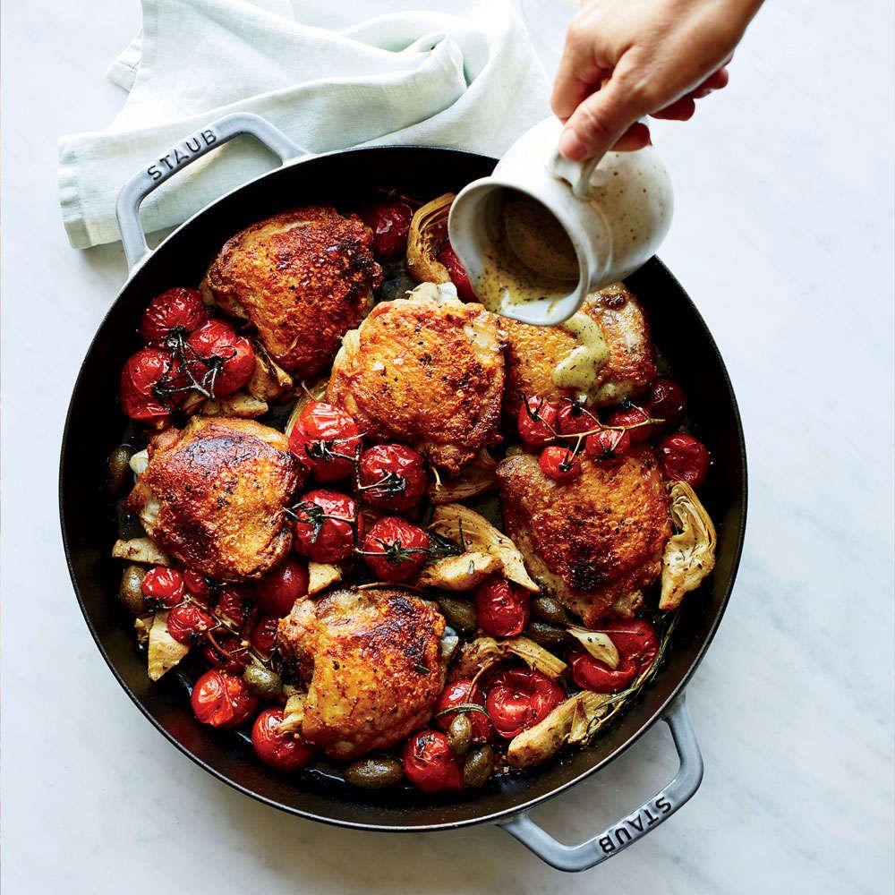 Chicken With Charred Rosemary Vinaigrette Recipe Recipe Wine Recipes Recipes Food