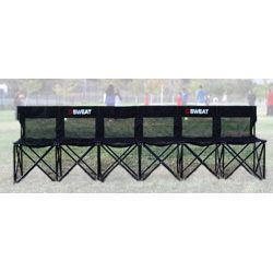 Superb Collapsible Portable Folding Soccer Team Bench Seat 6 Foldable Chair