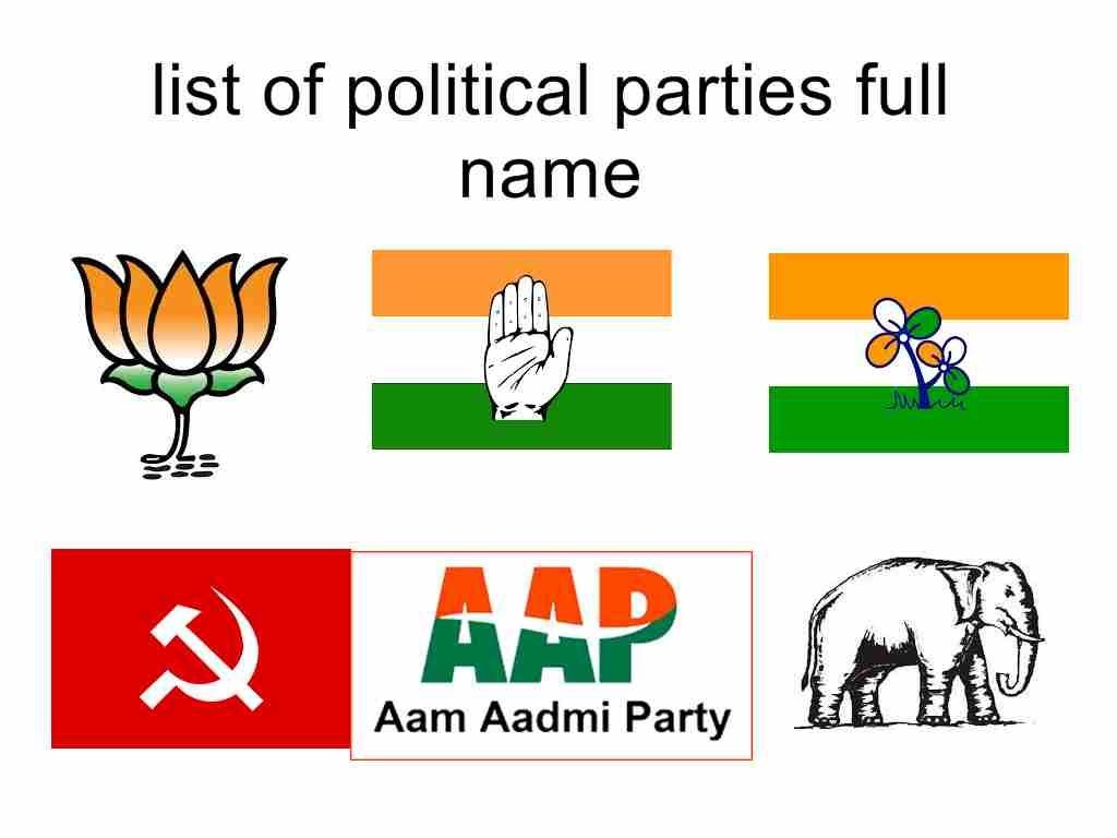 List Of Political Parties Full Name In India