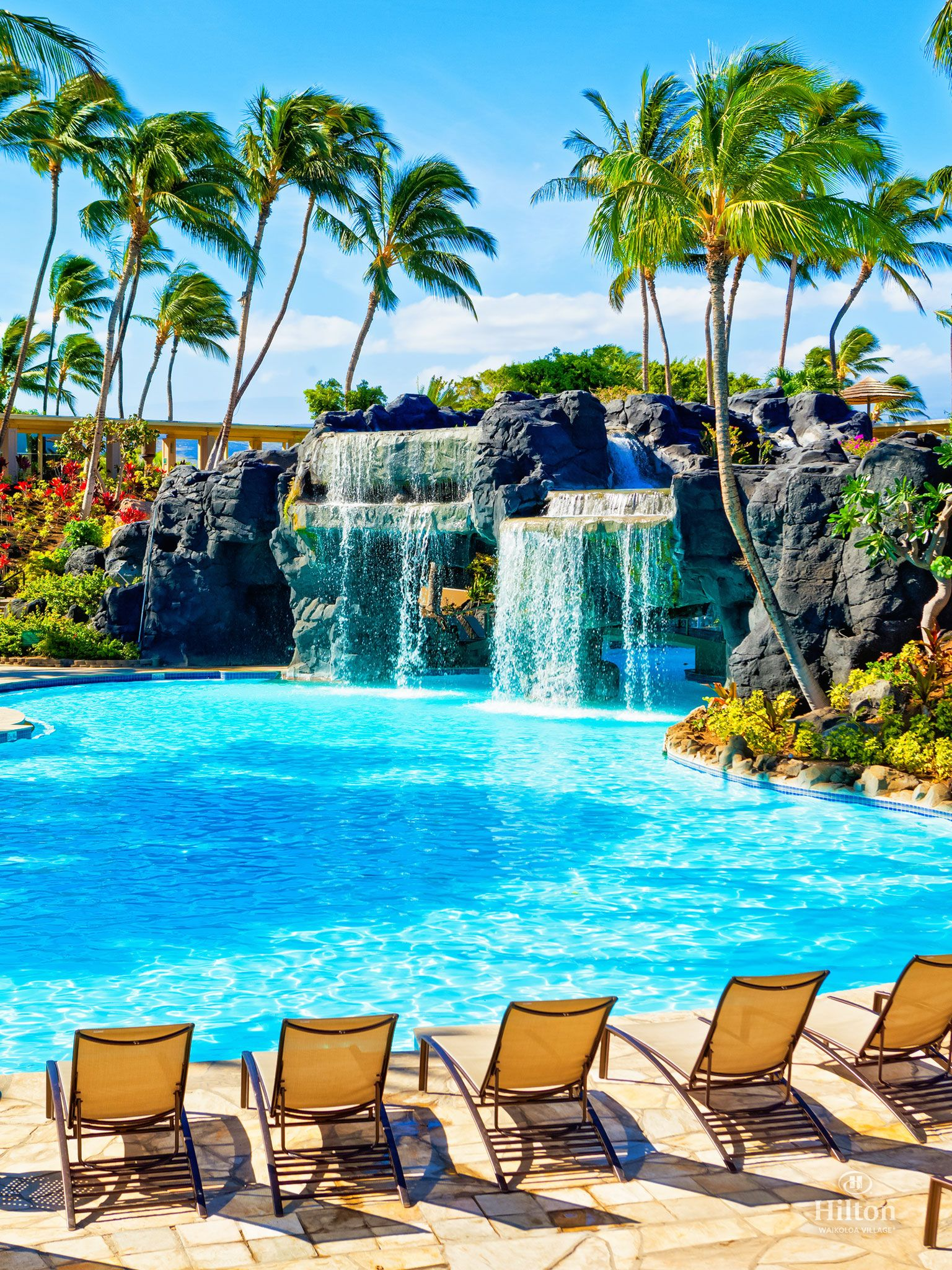 Swim under the waterfall to reach the water slide and whirlpool at we hope this scene from kona pool helps to get you in the mood warm greetings from your waikoloa ohana hawaii paradise pools aloha friday hwv top shot kristyandbryce Choice Image