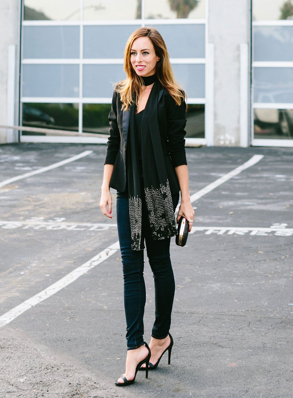 c7f0580cb03d Sydne Style - Los Angeles fashion blogger and People StyleWatch contributor  Sydne Summer shows how to wear the skinny scarf trend