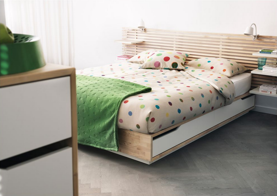 Small Bedroom Ideas 7 Smart Ways To Get More Storage In Your Sleep Space Ikea Mandal Bed Bed Frame With Storage Ikea Storage Bed