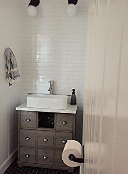 "White Porcelain Subway Tile Gloss Finish 2"" X 8 1/2"" (Box of 10 Sqft), Wall Tile, Backsplash Tile, Bathroom Tile, Vogue Brand Designed in Italy - - Amazon.com"