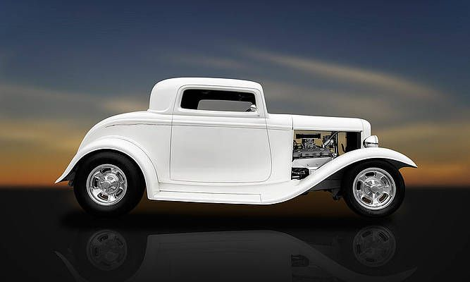 Hot Rod Wall Art - Photograph - 1932 Ford Coupe - 3 Window by Frank J Benz
