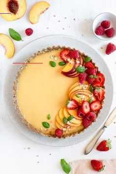 Summer Peach Tart (vegan, gluten-free, refined sugar free) | Anna Banana – #reci…