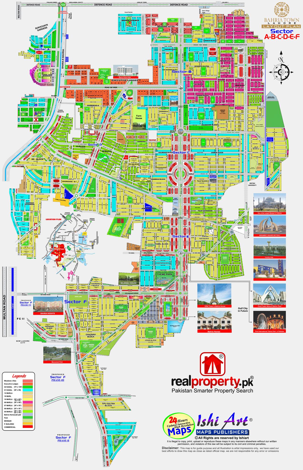 Bahria Town Lahore Map Pdf