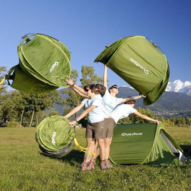 2-Second Pop Up Tent by Quechua Capacity Cozy for 2 adults. Shoe & 2-Second Pop Up Tent by Quechua Capacity: Cozy for 2 adults. Shoe ...