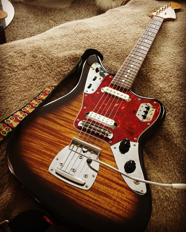 This Is My Mij Fender Jaguar Foto Flame Finish Fender Jaguar Classic Guitar Fender Guitars