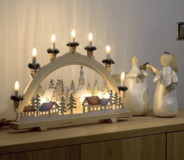 Konstsmide Alpine Village Candle Bridge Village Candle Christmas Villages Candles
