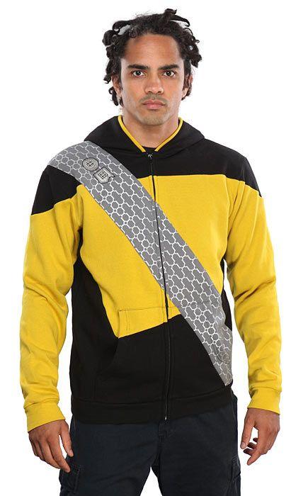 Star Trek:The Next Generation TNG Uniform Top Men Cosplay Costume Coat Sweats