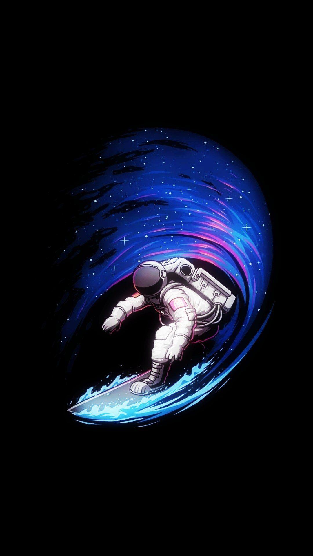 Astro Surfing Astronaut Wallpaper Pop Art Wallpaper Space Artwork