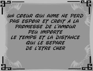 message amour distance