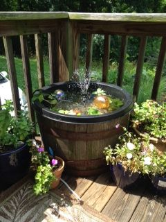 weekend project, my new deck pond