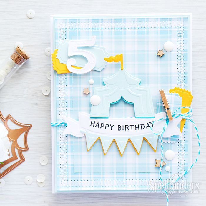 5th Birthday Card Video Tutorial With Tips On Die Cuts Pinterest