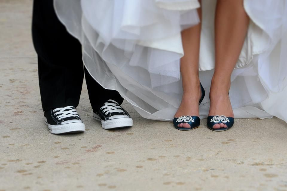 Wedding picture idea - shoes! Wedding shoes. Chuck Taylor and teal ...
