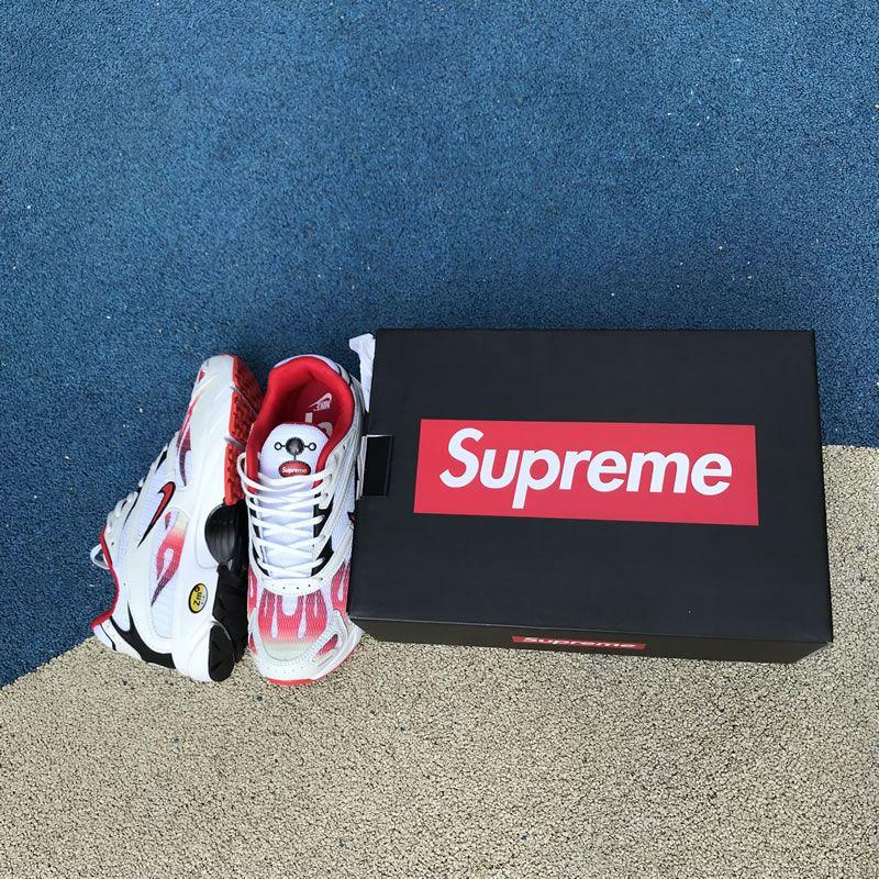 239973785224 Supreme® x Nike Zoom Streak Spectrum Plus White Habanero Red Black AQ1279-