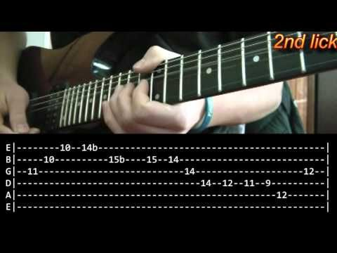 Comfortably Numb Guitar Solo Lesson 1/2 - Pink Floyd (with tabs ...