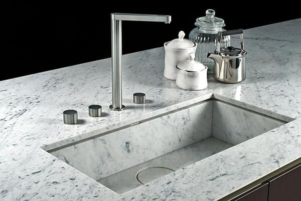 Trend Alert 8 Integrated Marble Kitchen Sinks Remodelista Kitchen Marble Marble Sinks Sink