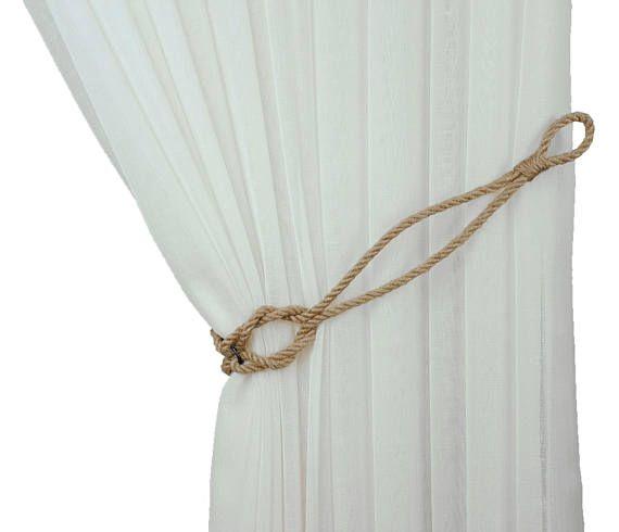 Jute Knot Tiebacks Curtain Tie Back Beach Decor Rope