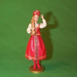 1999 HALLMARK ORNAMENTS - BARBIE - RUSSIAN #4 - $22.00 - MIB