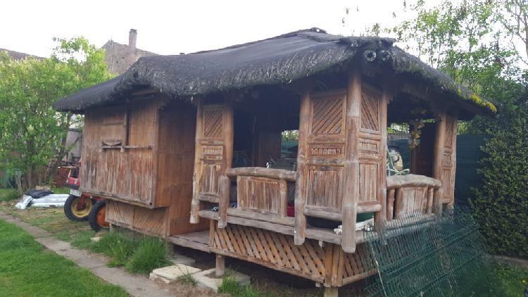 Abri De Jardin Paillote En Bambou Occasion En 2020 Abri De Jardin Paillote Bambou