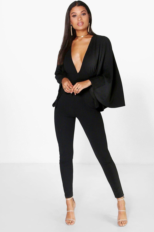 Ella Cape Style Skinny Leg Jumpsuit Grad Outfit Jumpsuit