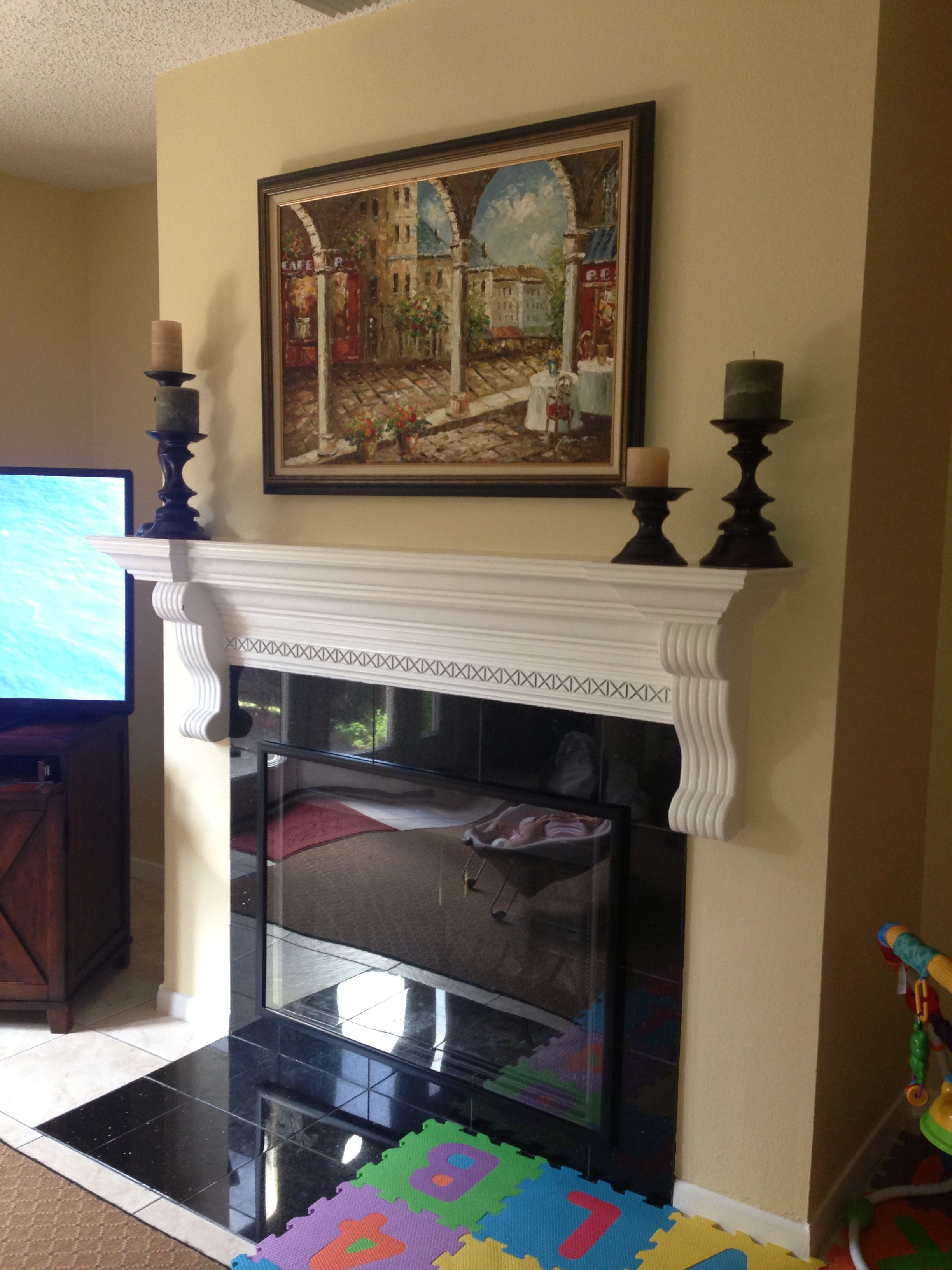 diy kid proofing fireplace screencover using inexpensive poster frame from target mounted with