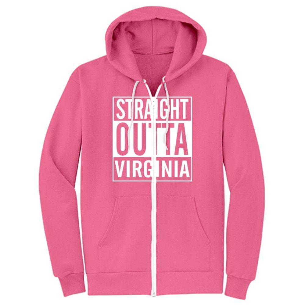 Straight Outta Virgina Zip-Up Hoodie