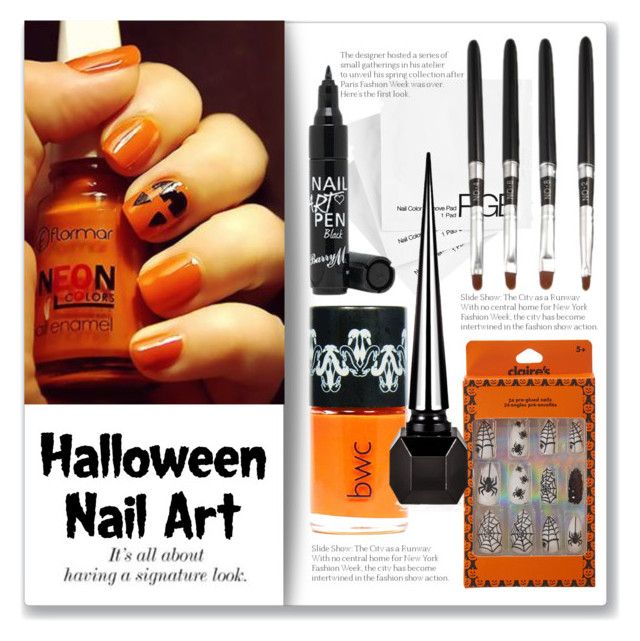 """Halloween Nail Art"" by jzanzig liked on Polyvore ..."