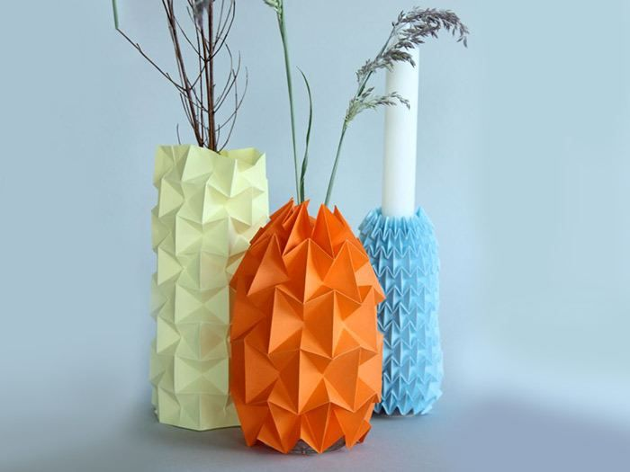 tutoriel diy fabriquer un cache pot en origami via inspirations pinterest. Black Bedroom Furniture Sets. Home Design Ideas