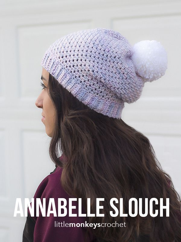 Annabelle Slouch Hat Crochet Pattern | Free button slouchy hat ...