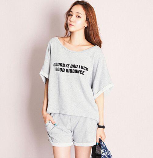 34a49c69e1ba2 Домашняя одежда для женщин летние шорты устанавливает летний стиль пижамы  роковой пижамы женские пижамы большой размер пижамы для девочек женщин  купить на ...