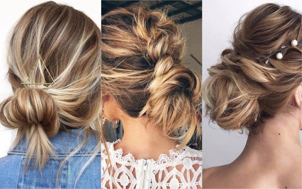 Ideas bonitas para peinados moño bajo Imagen de cortes de pelo Ideas - +65 Peinados Recogidos fáciles, hermosos, y elegantes ...