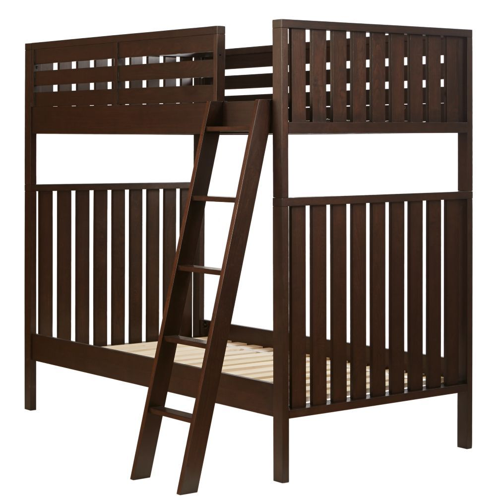 Twin Over Twin Cargo Bunk Bed Java The Land Of Nod Boys Room