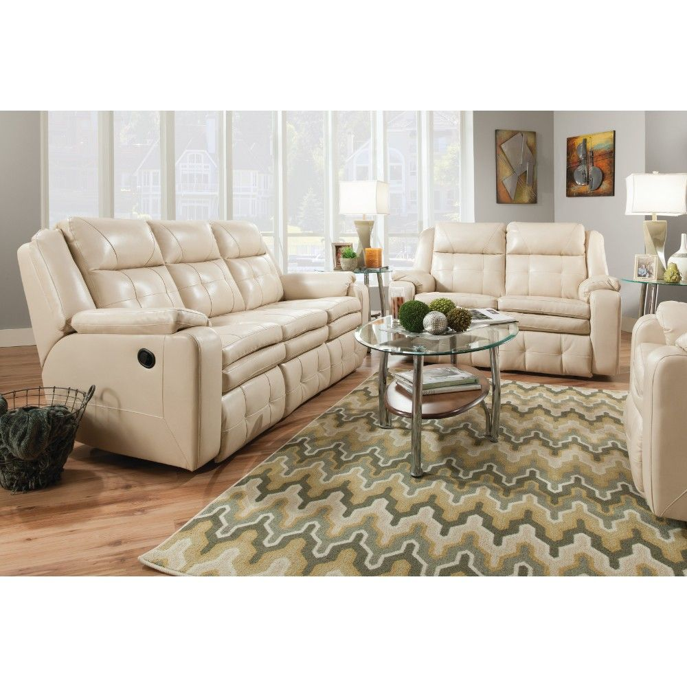 Naples Living Room Reclining Sofa Loveseat Champagne 8503
