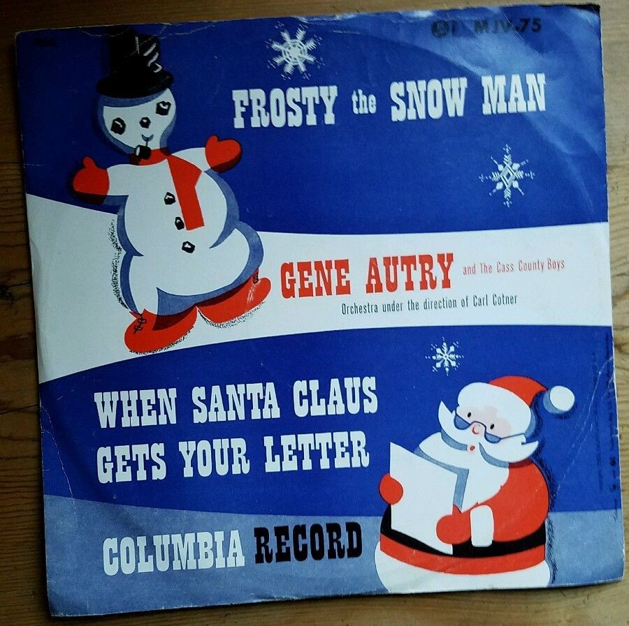Gene Autry Frosty The Snowman 1940 S Vintage Vinyl Record 10 78 Rpm Gc Free Shp Christmas Vinyl Records Vinyl Vintage Vinyl Records