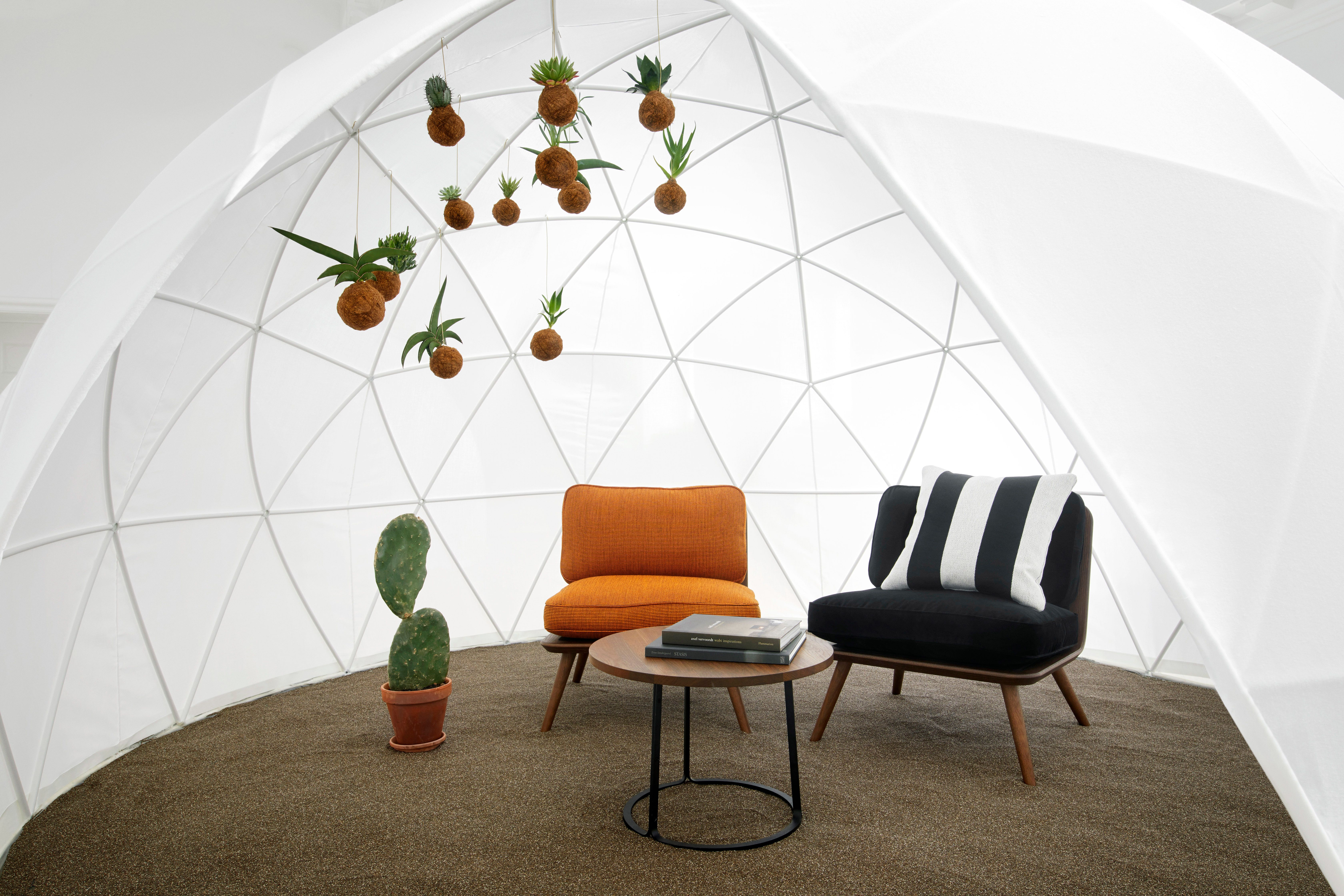 Iconic pieces from Fredericia Furniture clad in graphic Kvadrat/Raf ...